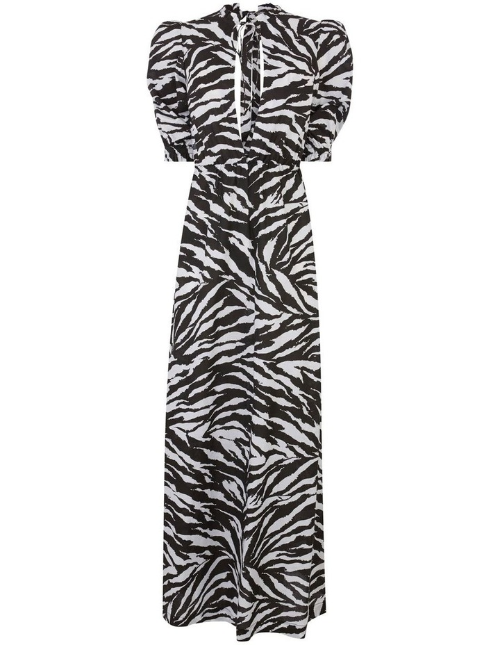 Zebra Open Back Maxi Dress image 4