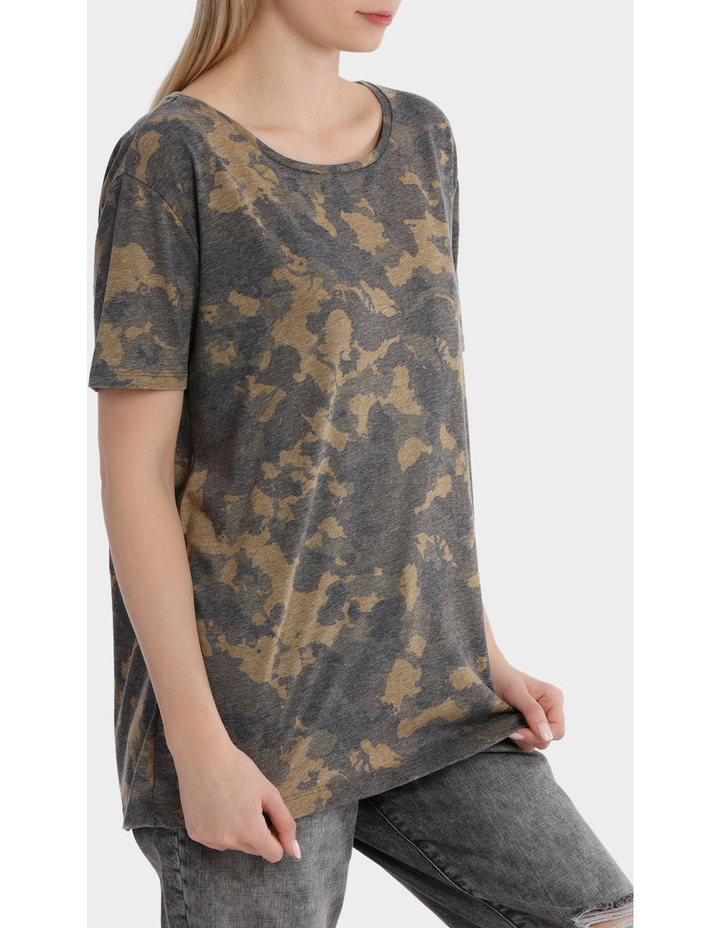 Truly Short Sleeve Camo Top image 2
