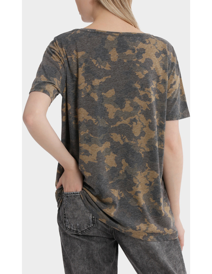 Truly Short Sleeve Camo Top image 3