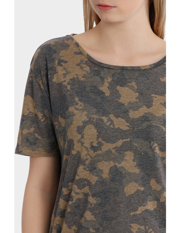 Truly Short Sleeve Camo Top image 4