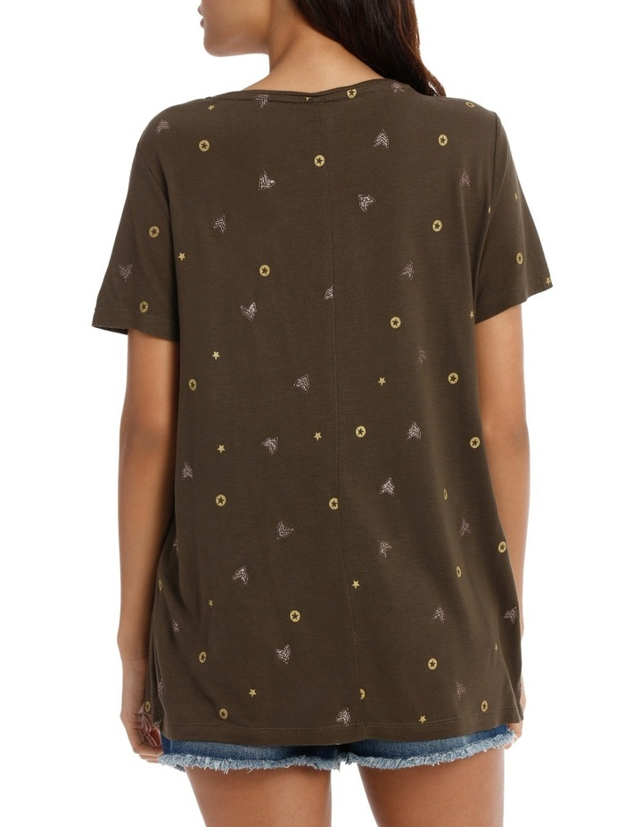 Isabel s/s camo/icons top image 3