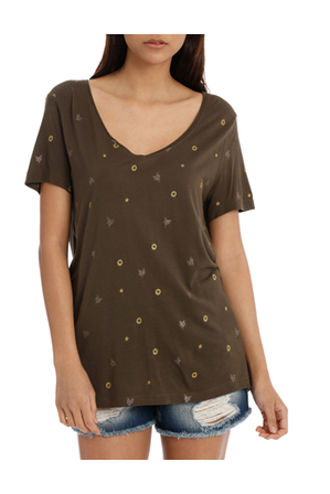ONLY - Isabel s/s camo/icons top