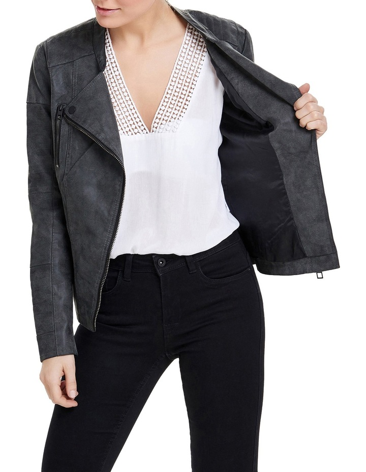 a2c730957e7 Ava Faux Leather Biker Jacket image 1