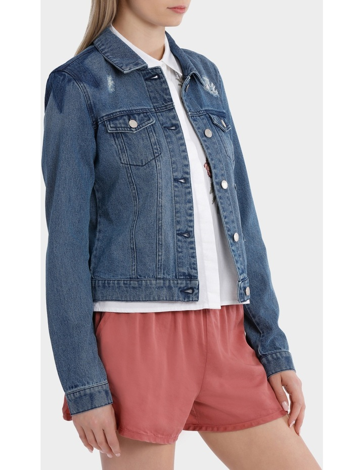 Darcy Long Sleeve Star Mix Patch Denim Jacket image 2
