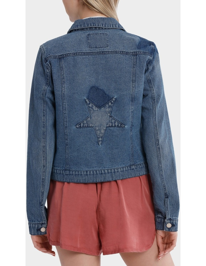 Darcy Long Sleeve Star Mix Patch Denim Jacket image 3