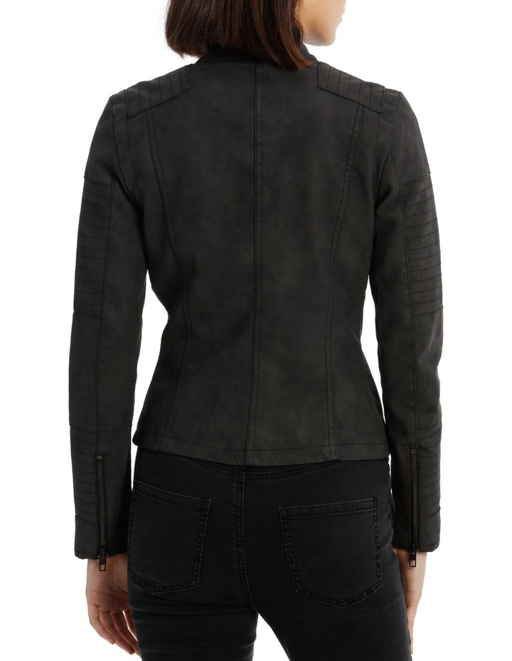 Ava Faux Leather Biker Jacket image 3