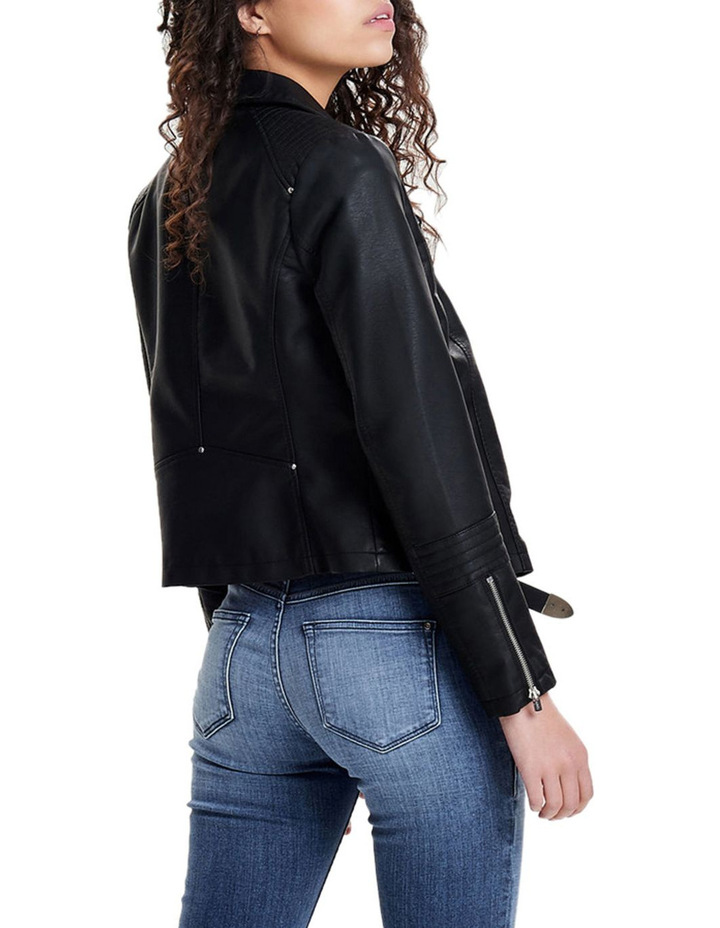 Gemma Faux Leather Biker Jacket image 2