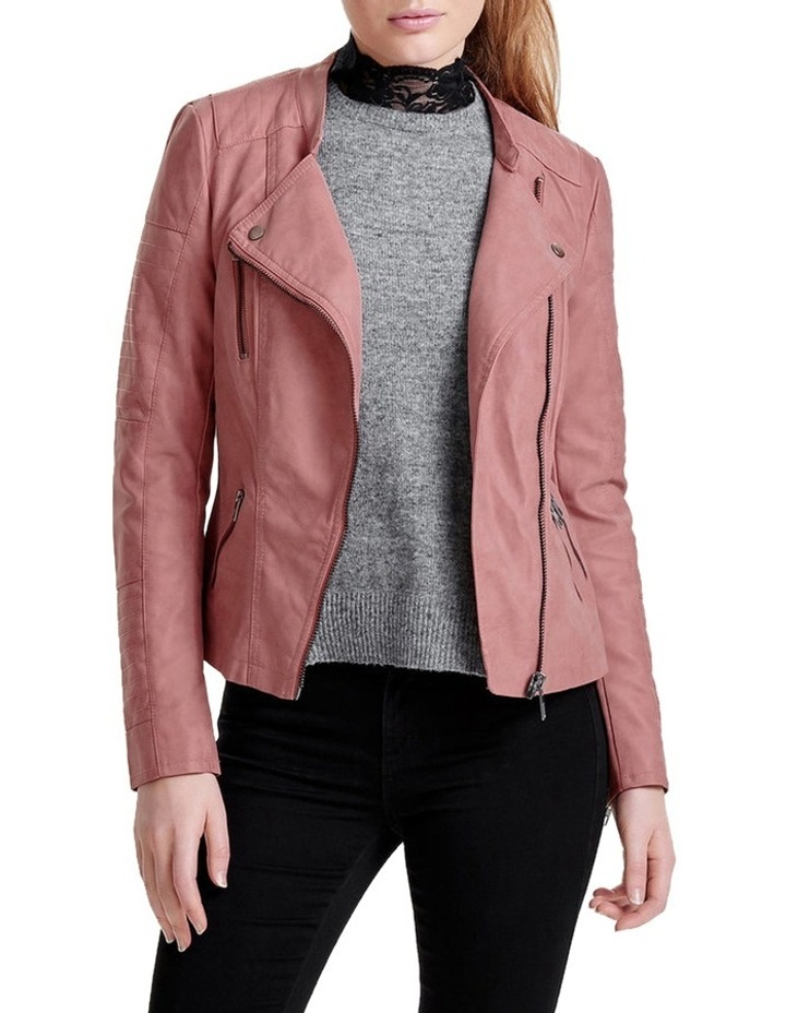 Ava Faux Leather Biker Jacket image 1
