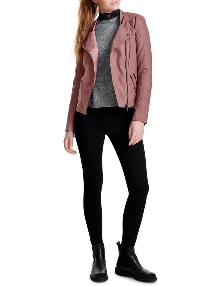 Ava Faux Leather Biker Jacket image 4