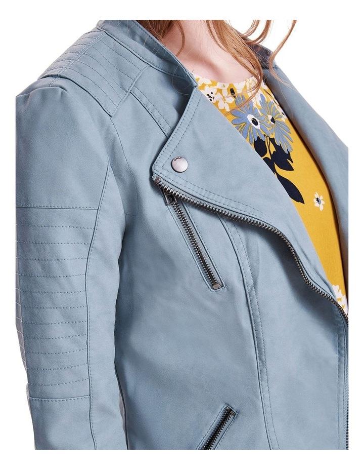 Ava Faux Leather Biker Jacket image 4