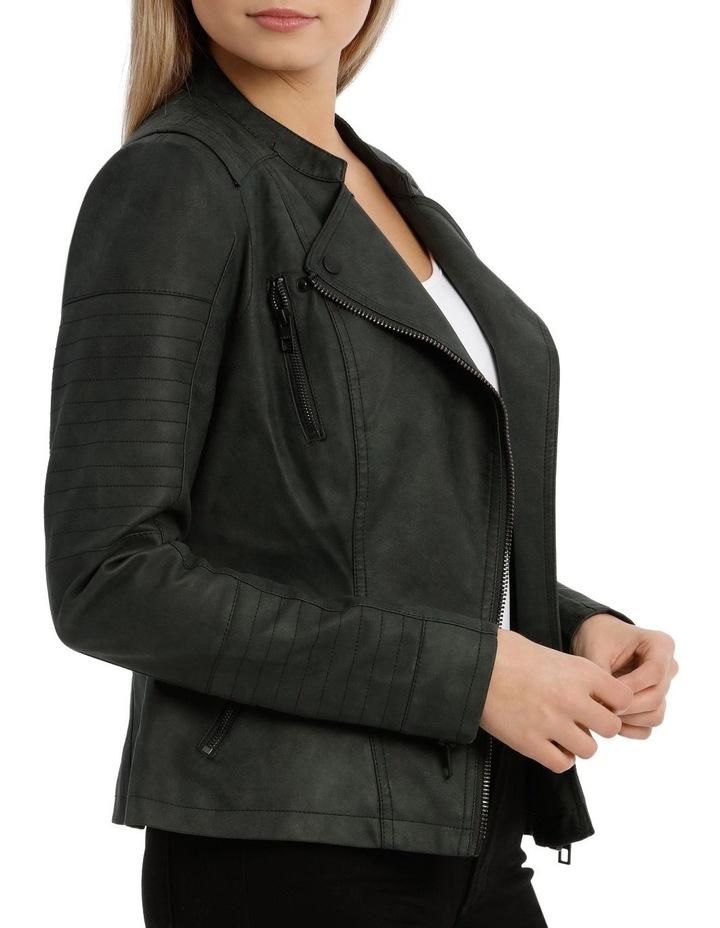 Ava Faux Leather Biker Jacket image 2