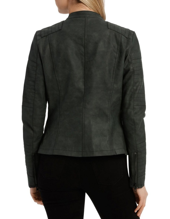 Ava Faux Leather Biker Jacket image 3
