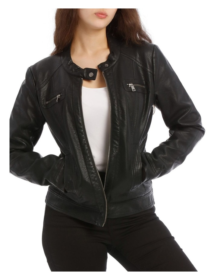 Bandit Faux Leather Biker Jacket image 1