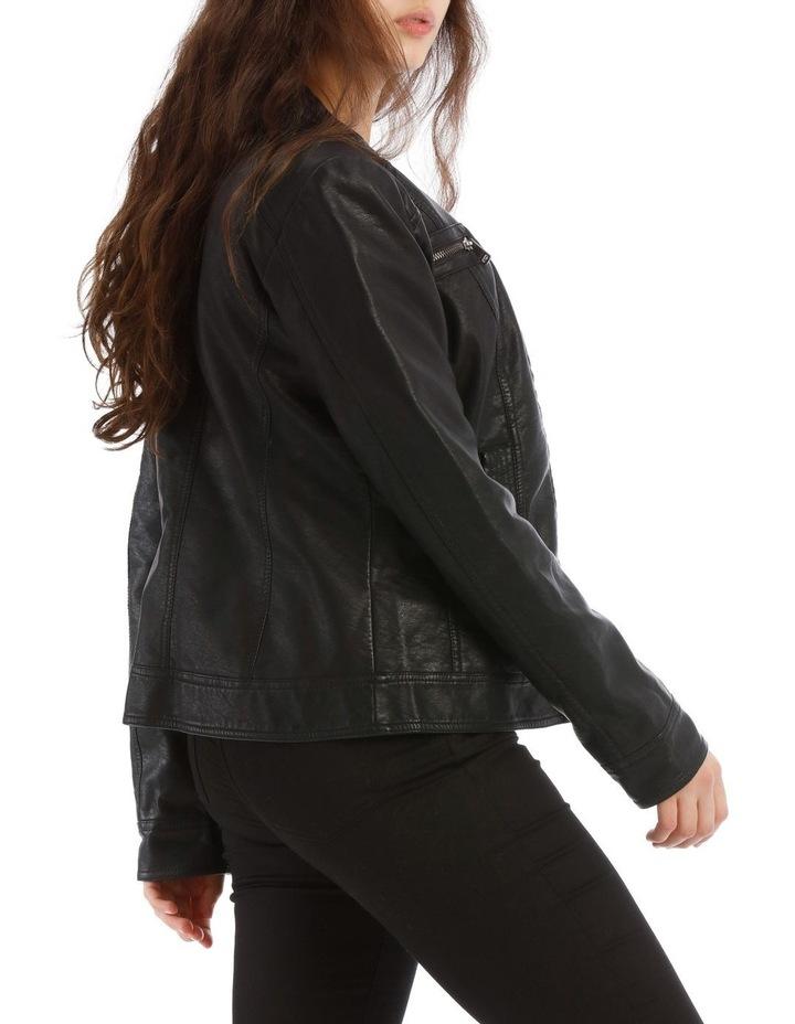 Bandit Vegan Leather Biker Jacket image 2
