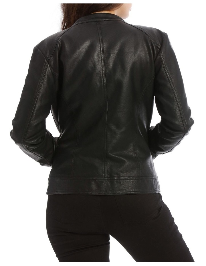 Bandit Faux Leather Biker Jacket image 3