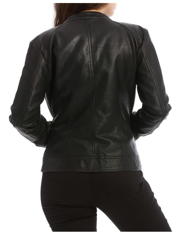 Bandit Vegan Leather Biker Jacket image 3