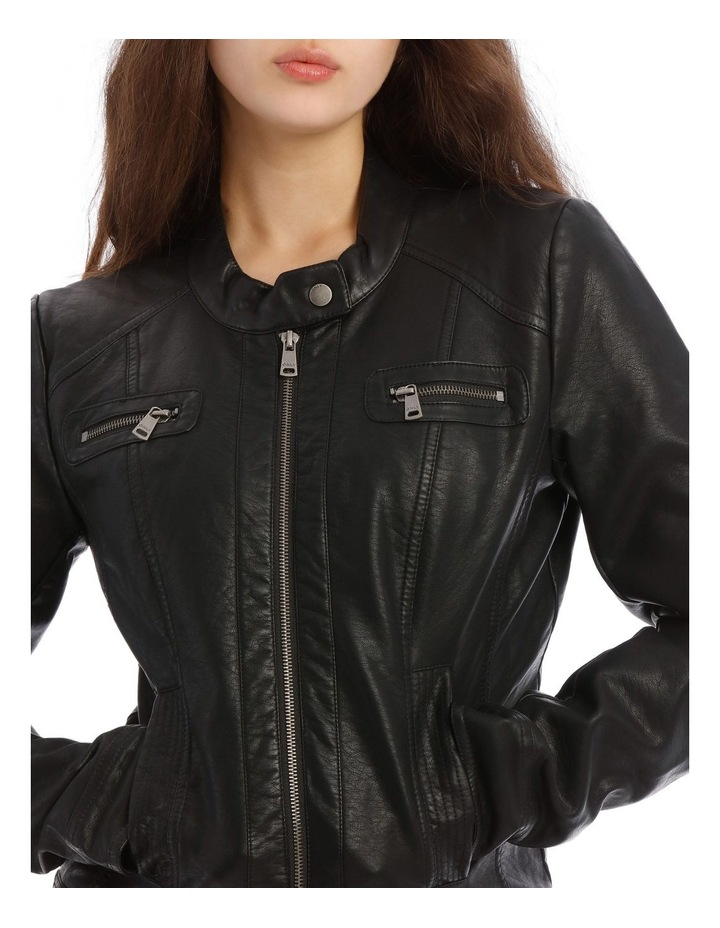 Bandit Faux Leather Biker Jacket image 4