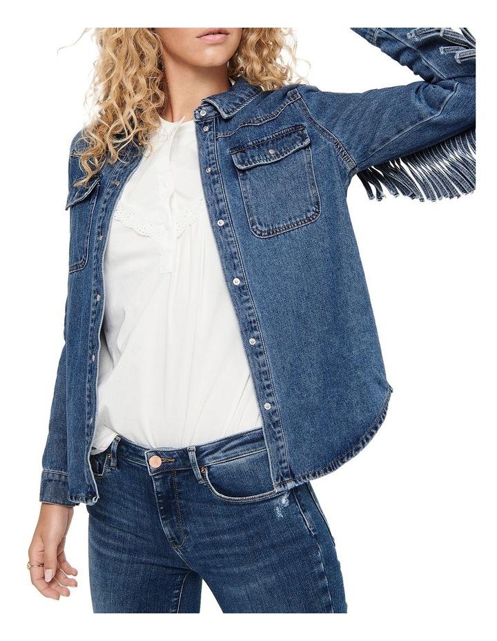 Wild Fringe Life Denim Jacket image 5