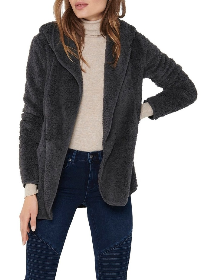 Contact Hooded Sherpa Coat image 1