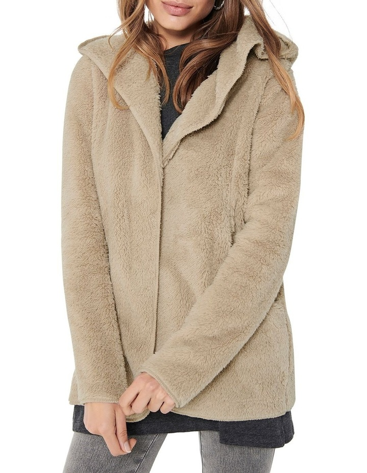 Contact Hooded Sherpa Coat image 4