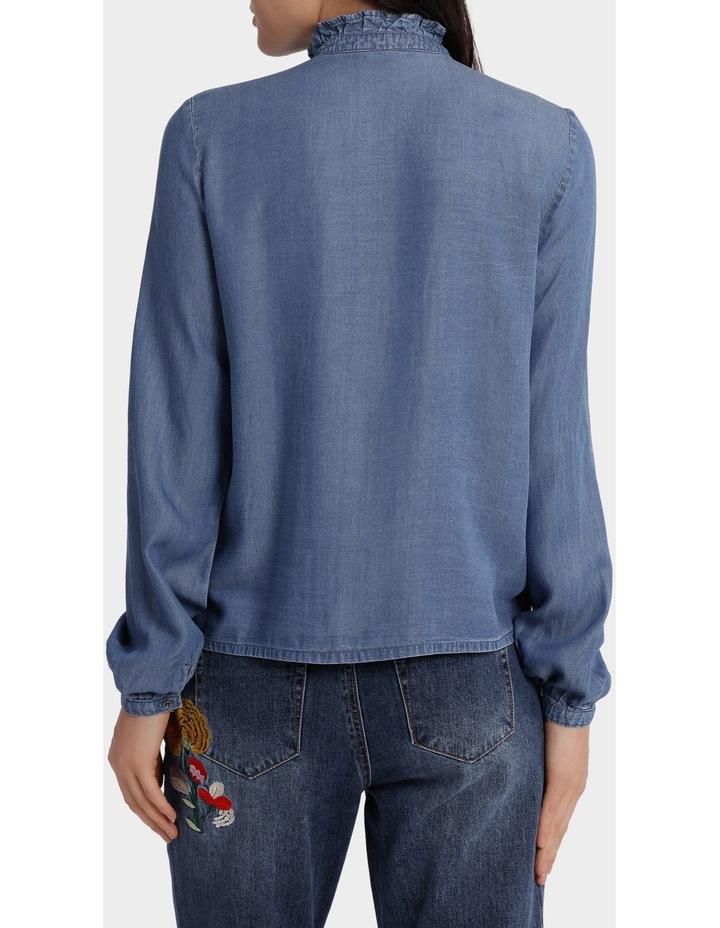 Amy Long Sleeve Frill Denim Shirt image 3