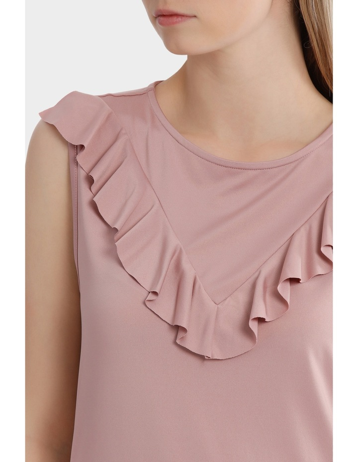 Ruffle V Front Detail Top image 4