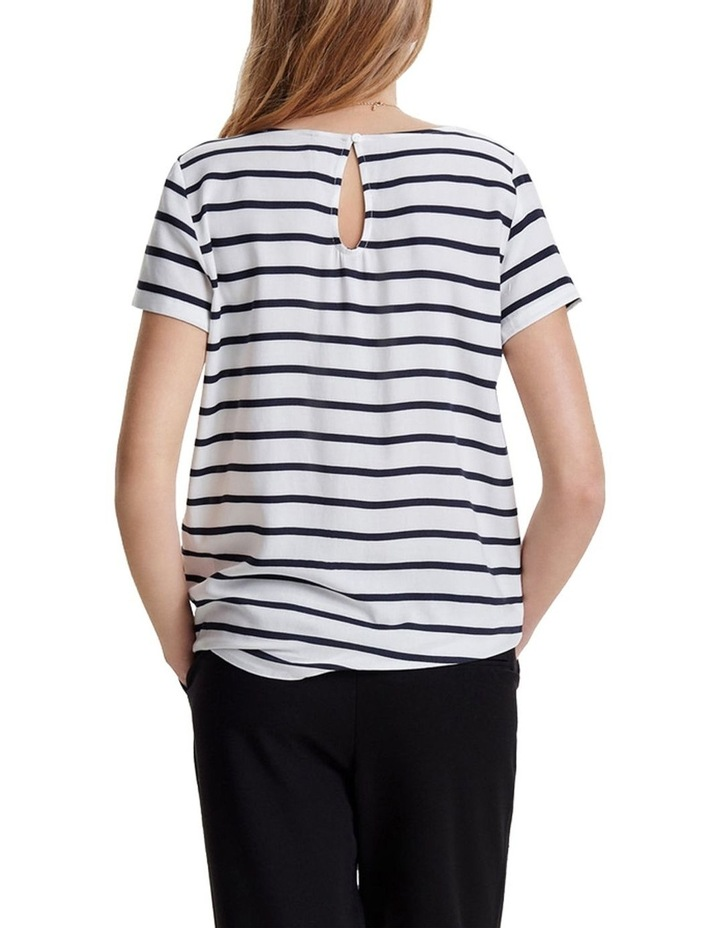 First Short Sleeve Stripe Top image 4