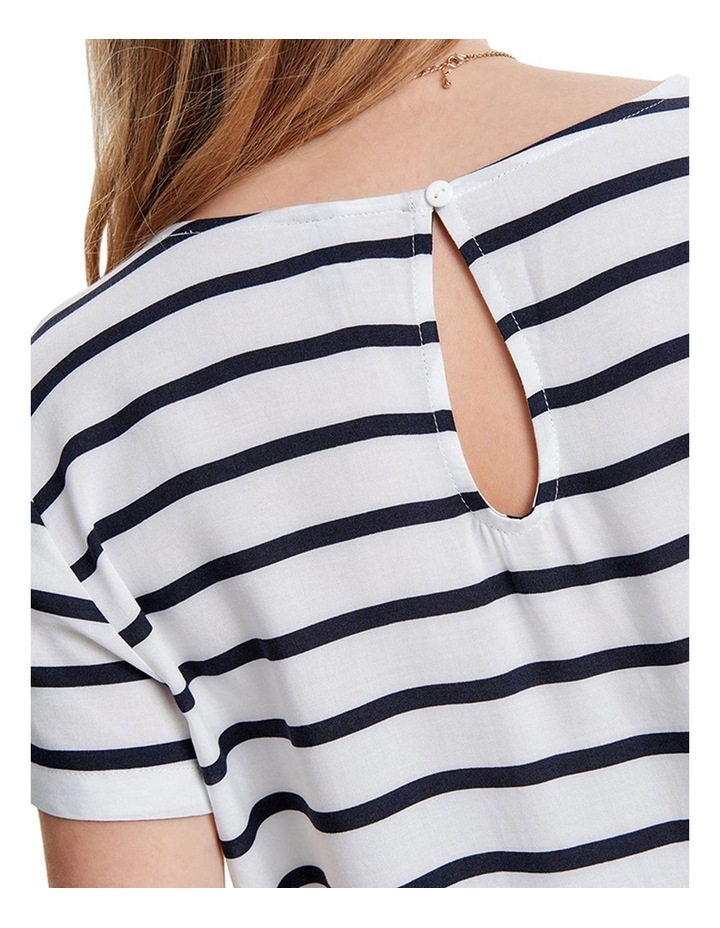 First Short Sleeve Stripe Top image 6