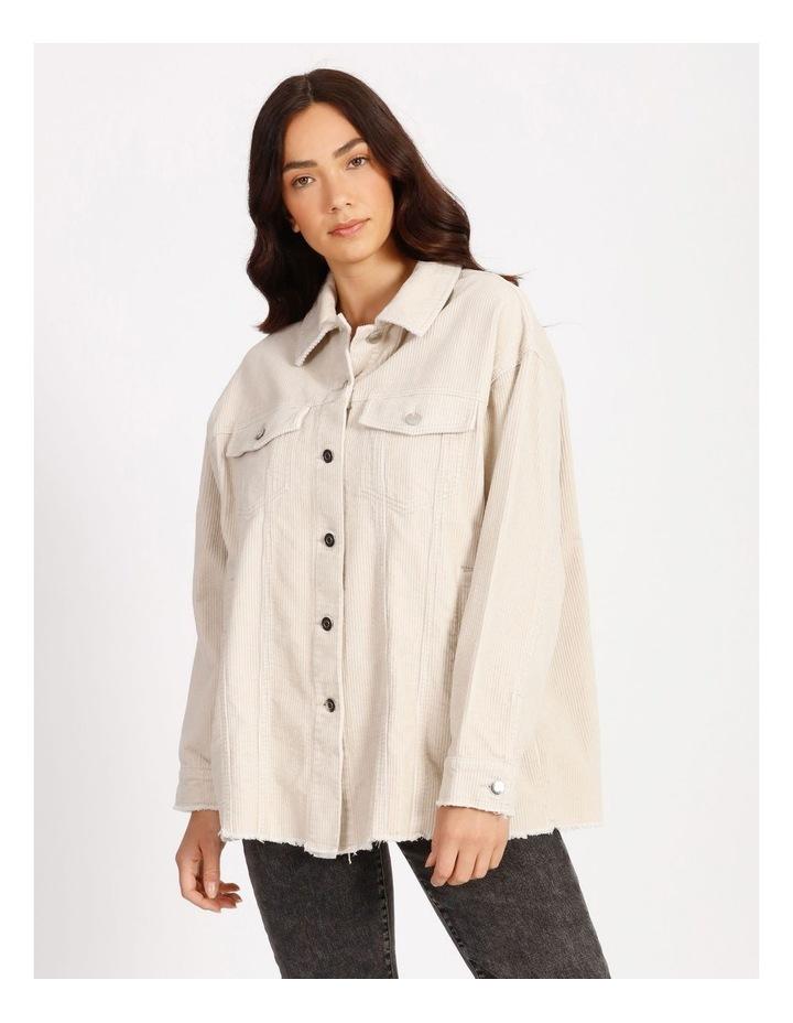 Bitten Life Cord Long Sleeve Shirt Ivory image 1
