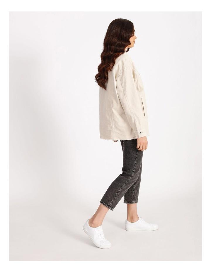 Bitten Life Cord Long Sleeve Shirt Ivory image 2