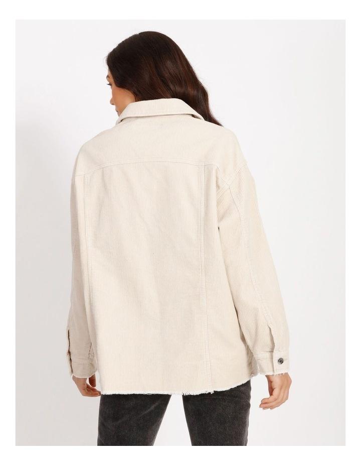Bitten Life Cord Long Sleeve Shirt Ivory image 3