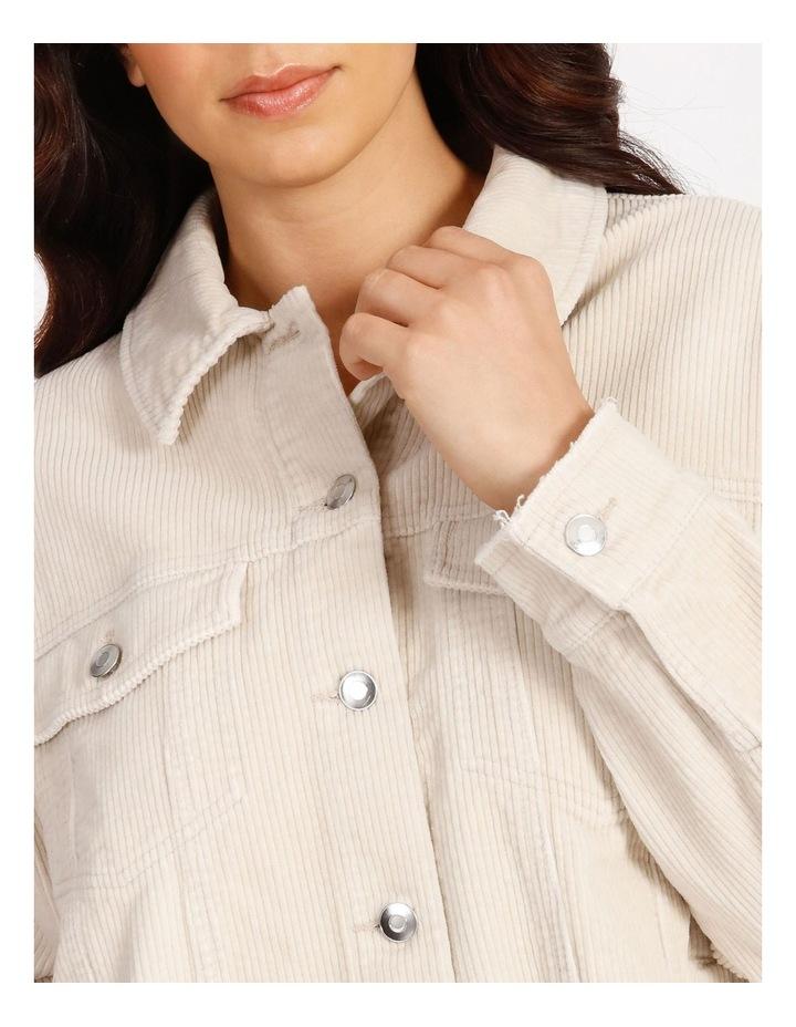 Bitten Life Cord Long Sleeve Shirt Ivory image 4