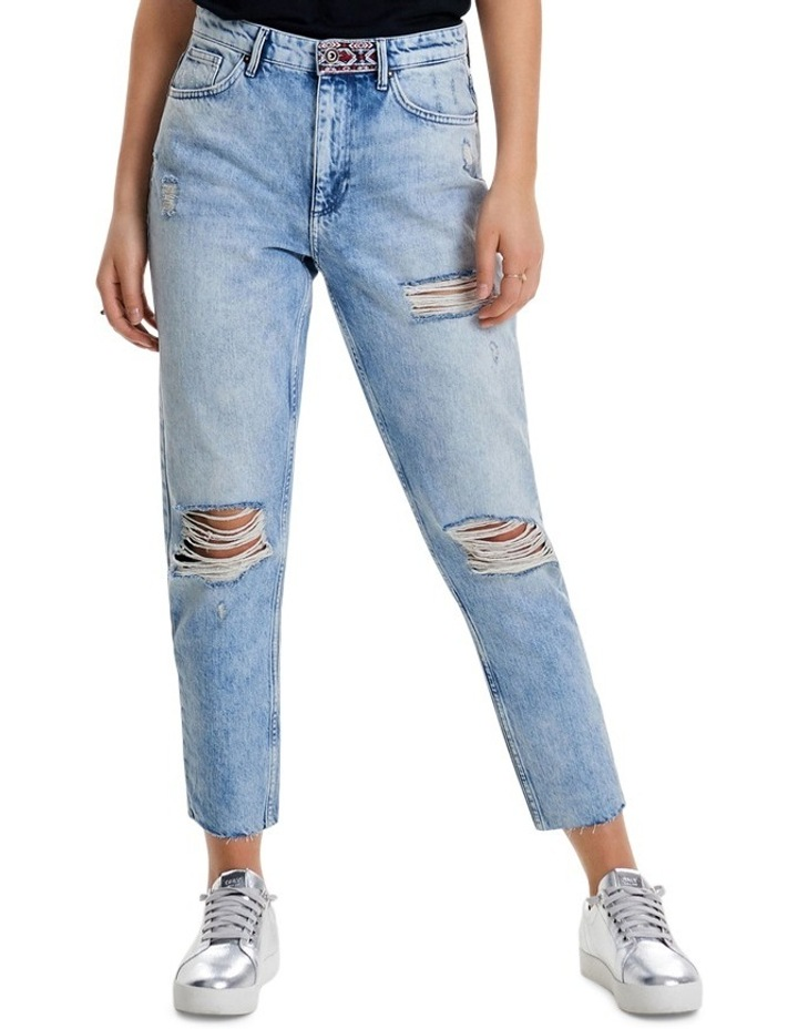 Kelly High Waisted Ankle Denim Jeans REA20409 image 1