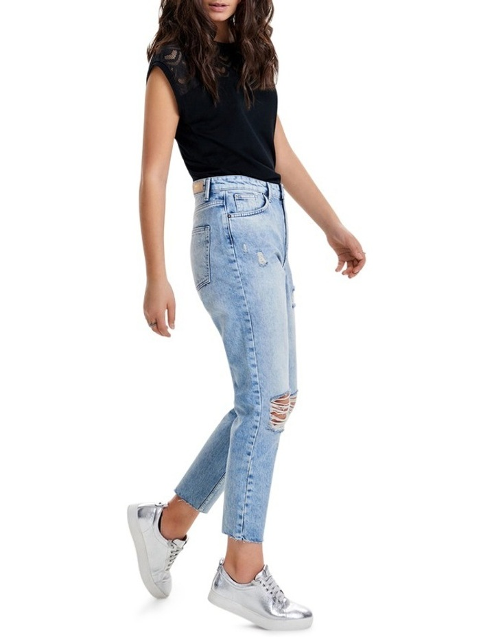Kelly High Waisted Ankle Denim Jeans REA20409 image 3