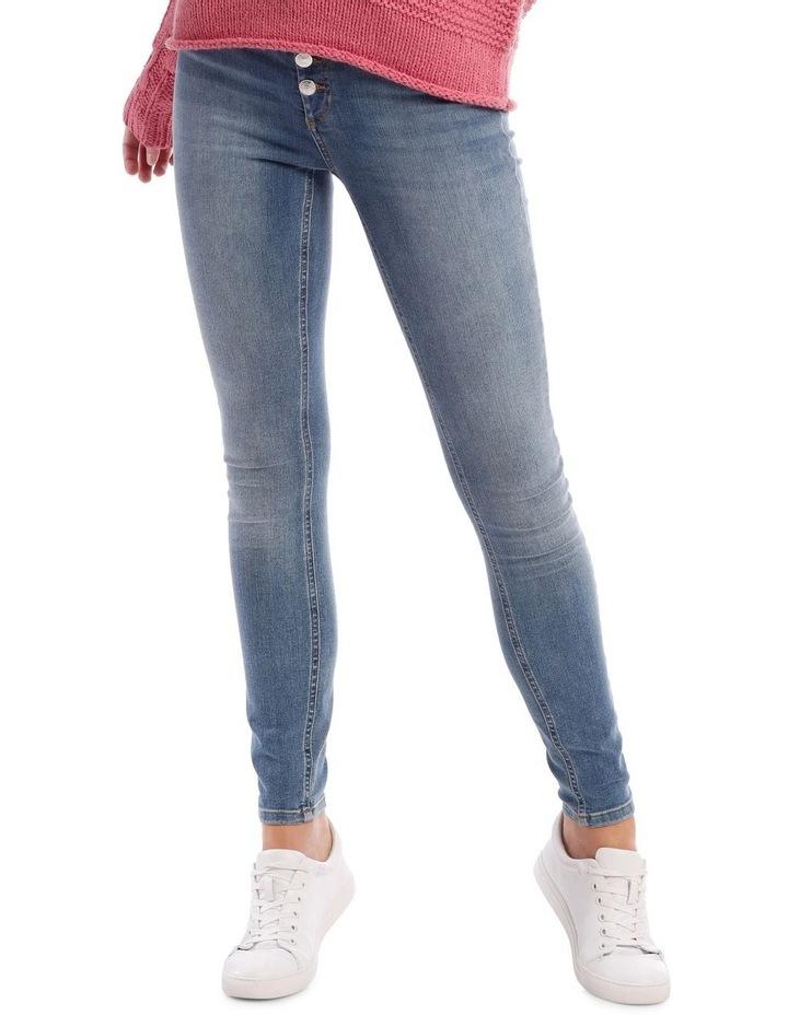 Blush High Wasit Button Jean image 1