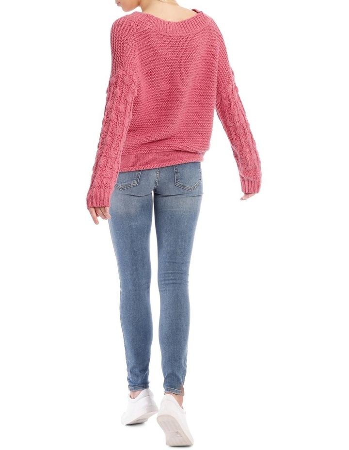 Blush High Wasit Button Jean image 3