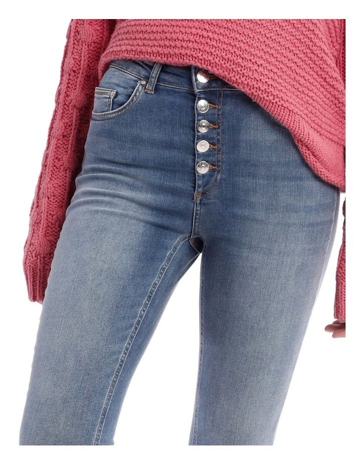 Blush High Wasit Button Jean image 4