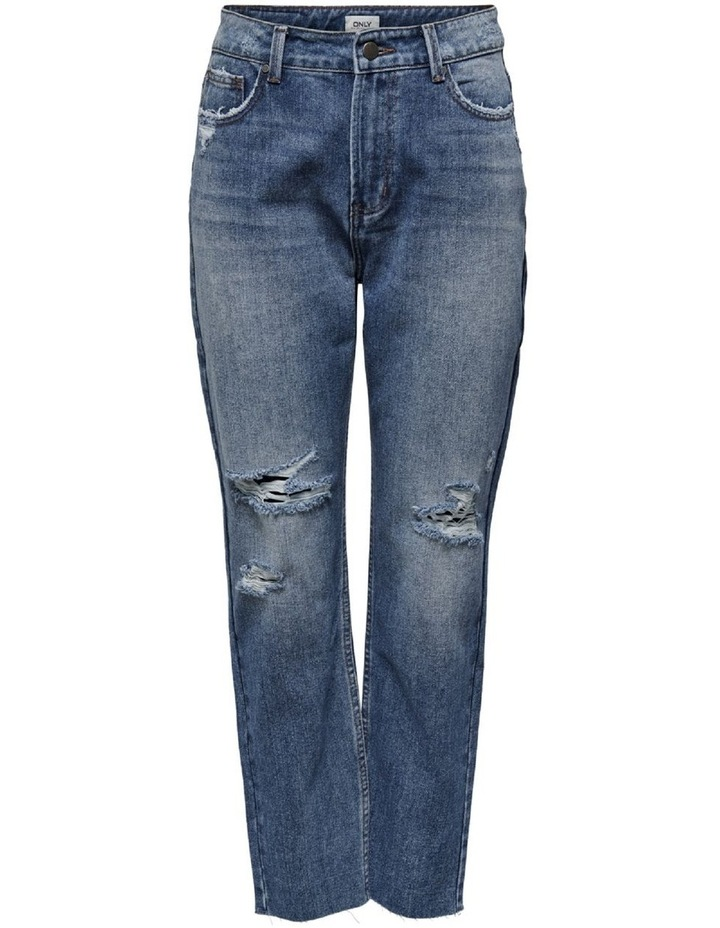 Emily High Waist Cropped Straight Fit Jeans image 1