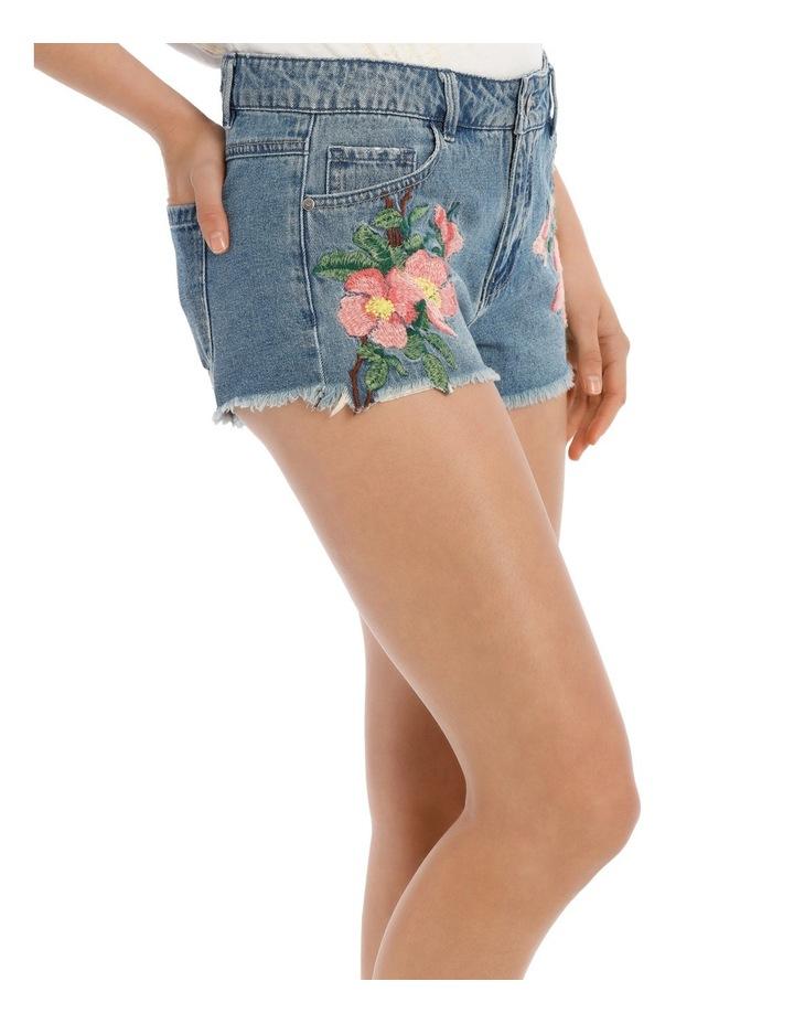 Carmen Reg Denim Embroidered Shorts image 2