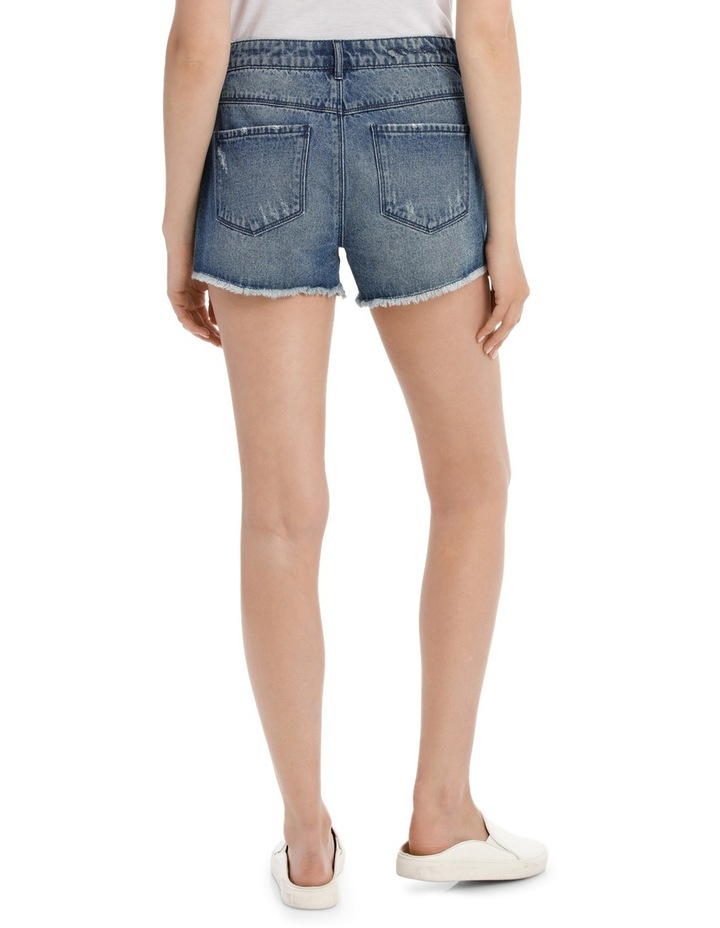 Pacy High Waisted Embroidered Denim Shorts image 3