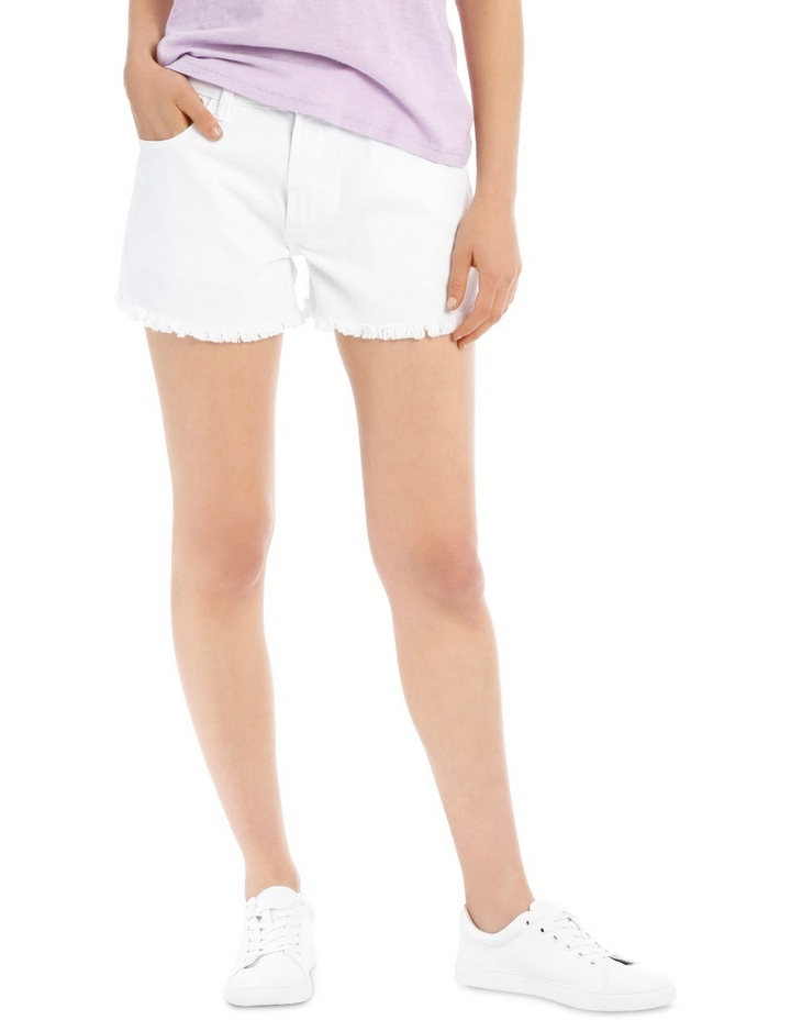 Crop Denim Shorts White Nj image 1