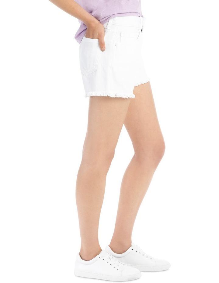 Crop Denim Shorts White Nj image 2