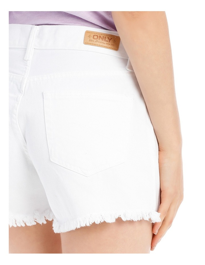 Crop Denim Shorts White Nj image 4