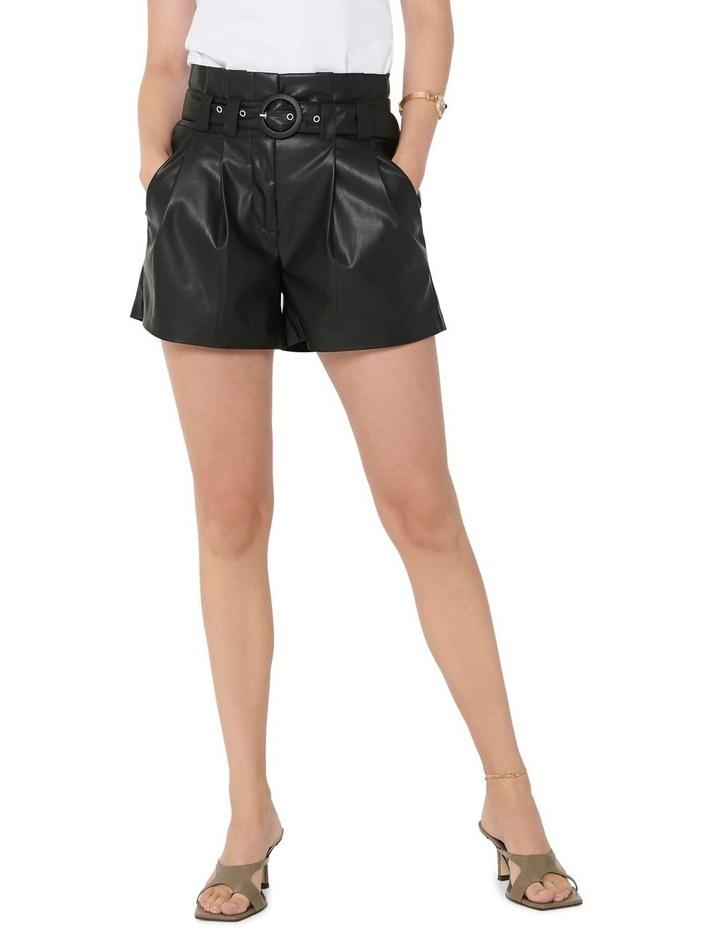 Dana Faux Leather Paperbag Shorts image 1