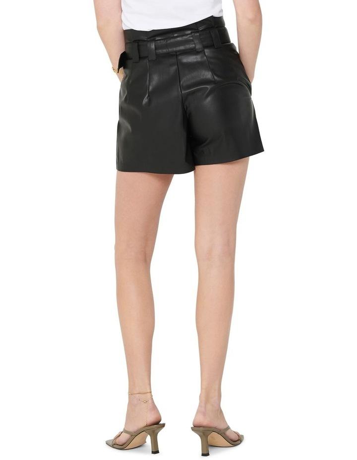 Dana Faux Leather Paperbag Shorts image 2