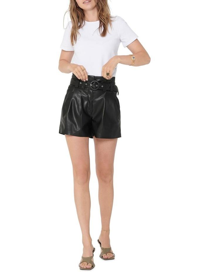 Dana Faux Leather Paperbag Shorts image 3