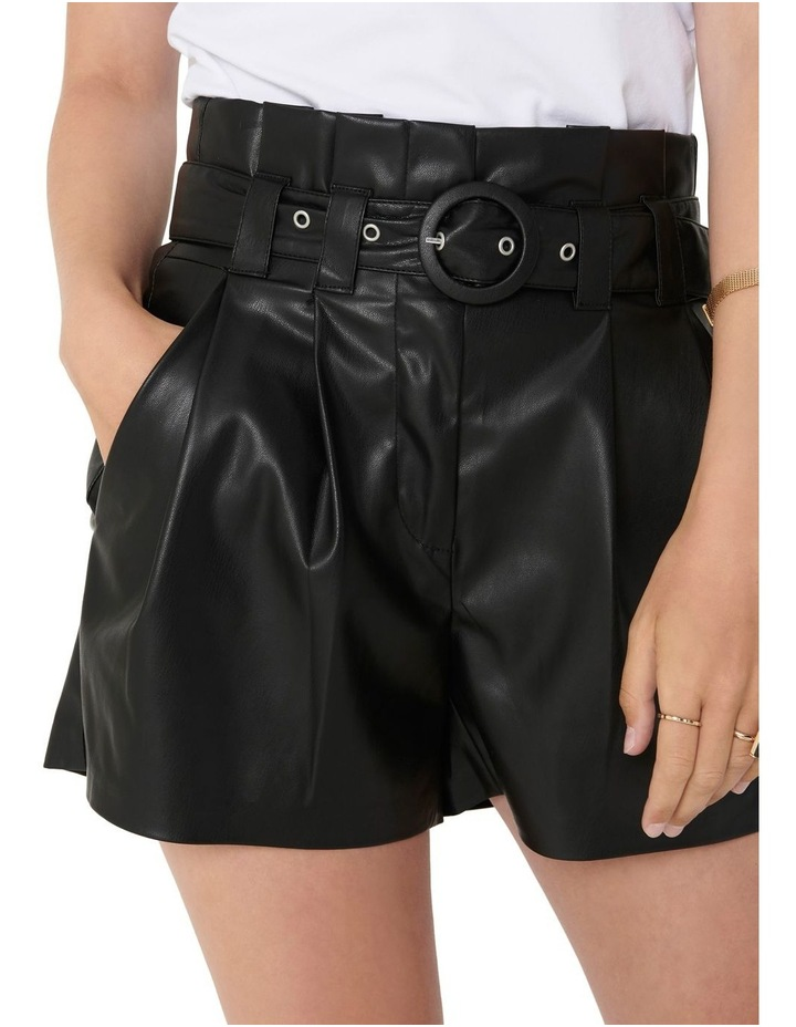 Dana Faux Leather Paperbag Shorts image 4