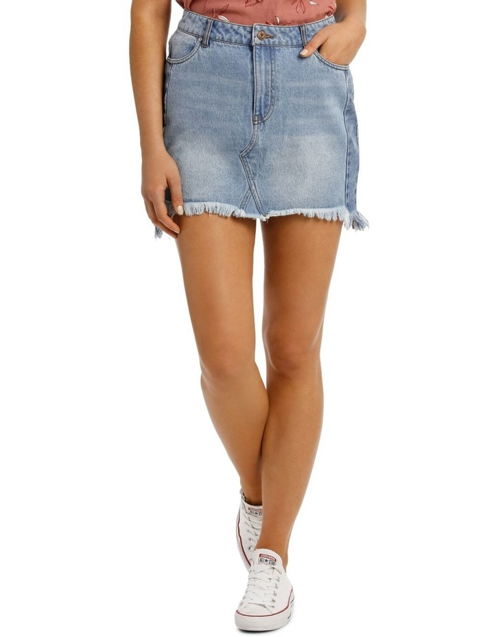 Sky Medium Blue Denim Skirt image 1