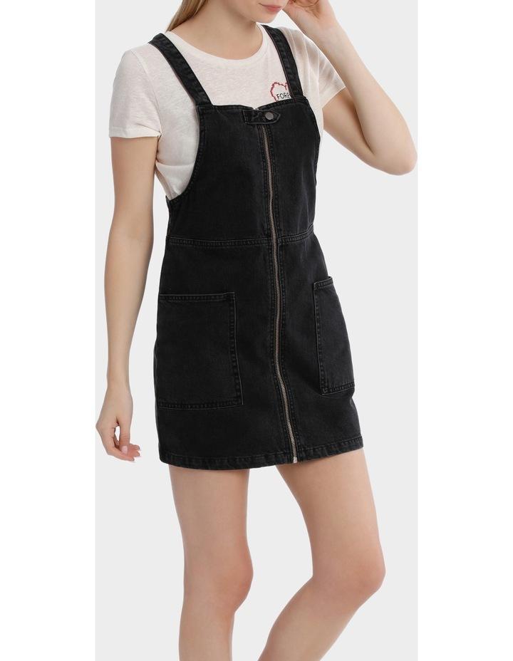 Aya Zip Denim Overall Dress image 2