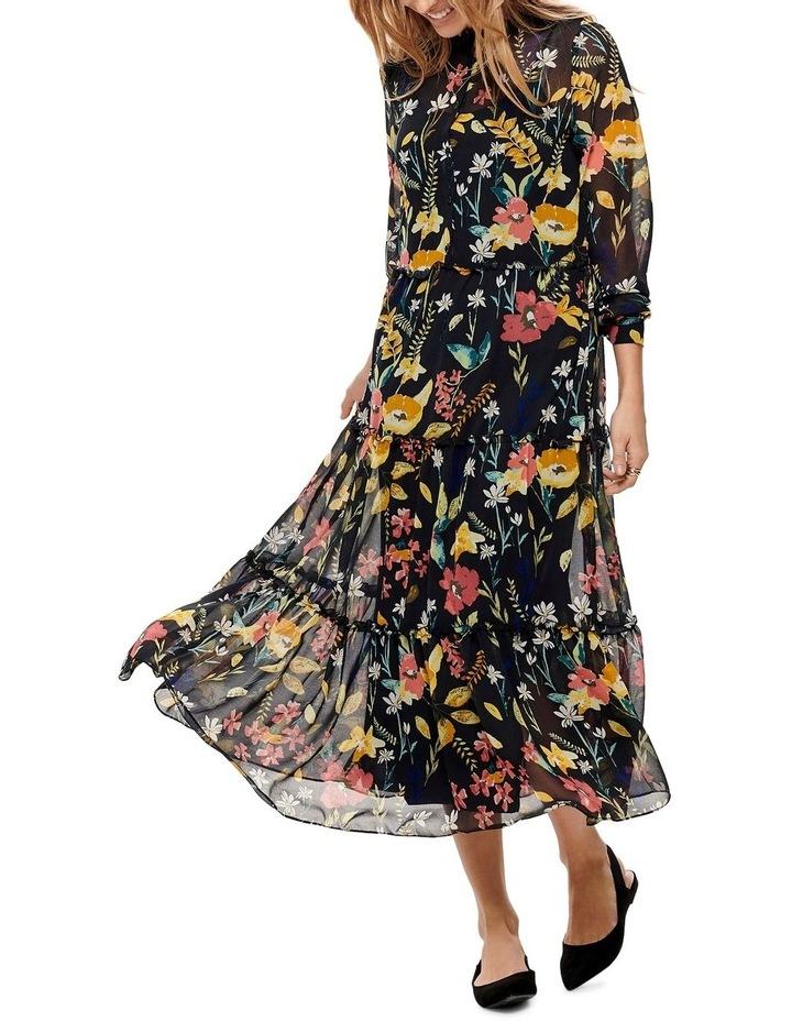 Nora Long Sleeve Midcalf Dress image 1